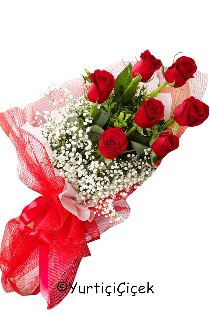 Red roses 7 pieces the language of flowers red roses for love by flowers 200 izmirmasajfo
